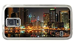 Hipster Samsung Galaxy S5 Cases sparkle dubai creek night PC Transparent for Samsung S5