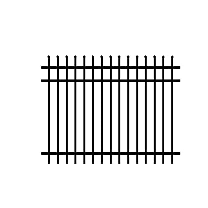 Aluminum Fence Panel 3 Rail Worthington Design In Black