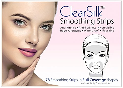 ClearSilk Smoothing Strips (Full Coverage 78 Ct) Facial Wrinkle Repair and Prevention Clear Silk Anti-Wrinkle Patches (Repair Silk)