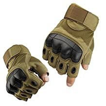 Shooting Tactical Mitten Gloves Gnats Half Finger Outdoor Gloves Hard Knuckles Tactical Glove for Shooting, Military, Hunting, Driving, Paintball, Cycling, Airsoft, Army, Sporting Motorcycle