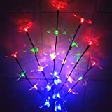 Sogrand 24LED Colorful Butterffy,Solar Lights Outdoor,Decorative Solar Tree,Solar Light,Solar Garden Lights,for Lawn,Patio,Yard,Walkway,Driveway,Pathway