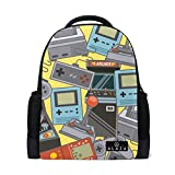 My Daily Classic Videogames Pattern Backpack 14 Inch Laptop Daypack Bookbag for Travel College School