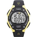 Timex Men's T5E921 Ironman Traditional 30-Lap Black/Yellow Resin Strap Watch