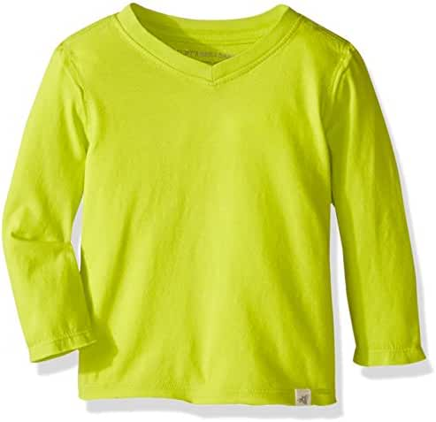 Burt's Bees Baby Baby Boys' Organic Long Sleeve Reverse Seam High V Tee Shirt