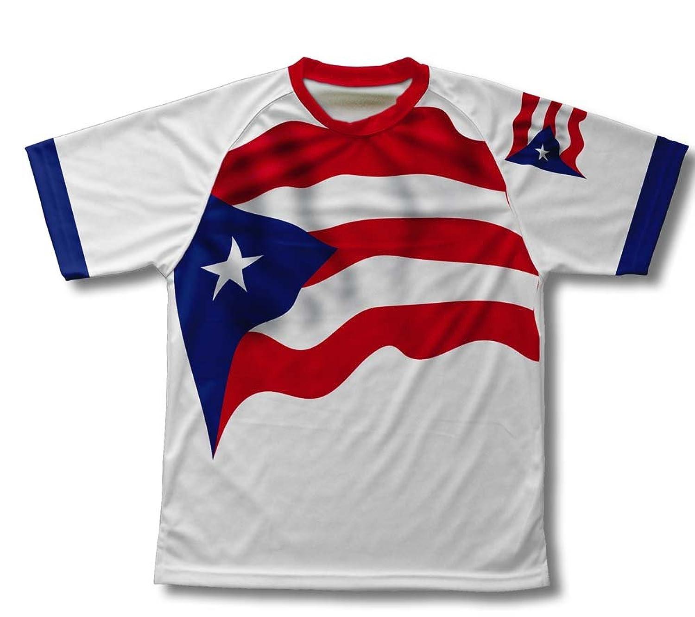 amazon com puerto rico flag technical t shirt for men and women