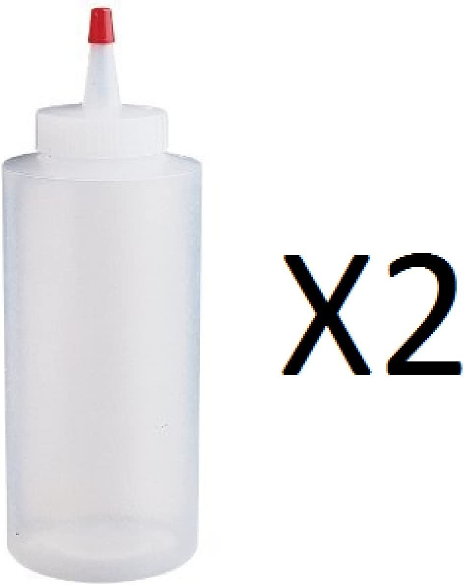 Wilton Squeeze Bottle-12oz, clear and red tip