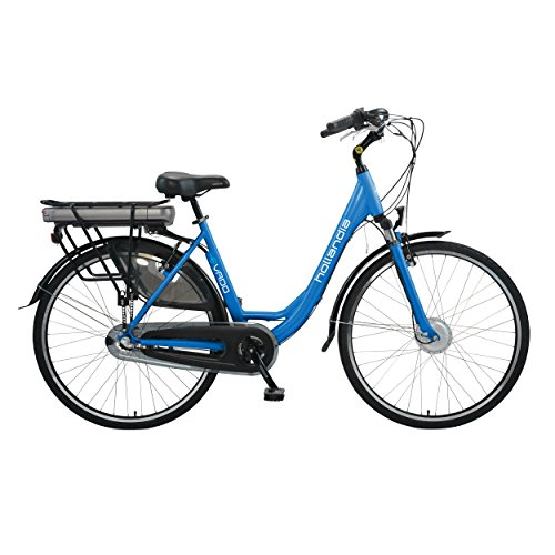 Hollandia Evado Electric City Commuter Bicycle, 3-Speed, 18″ Women's Frame, Blue Review