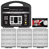 Panasonic eneloop Pro Charger with (8) AA and (2) AAA Batteries & Case Set + (3) Battery Cases + Kit
