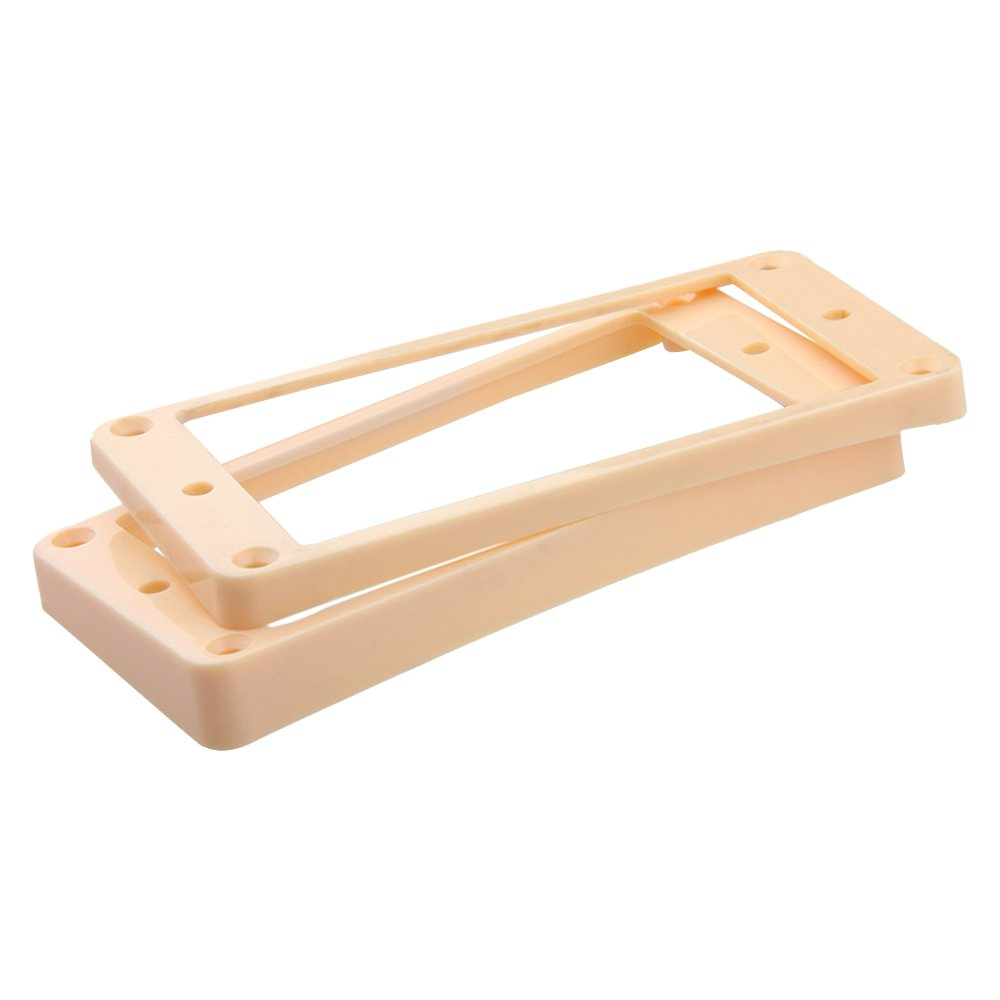 Kmise A0566 2-Piece Curved Pickups Frame Mounting Ring Ivory for Electric Guitar
