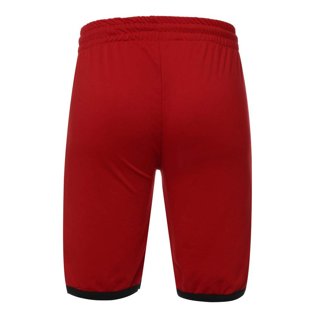 NUWFOR Men Zipper Casual Splice Stripe Beach Work Casual Men Short Trouser Shorts Pants(Red,US:S Waist25.98-29.92''') by NUWFOR (Image #6)