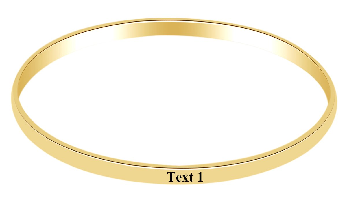 AFFY Personalize Engravable Bangle Bracelet in 14k Yellow Gold Over Sterling Silver