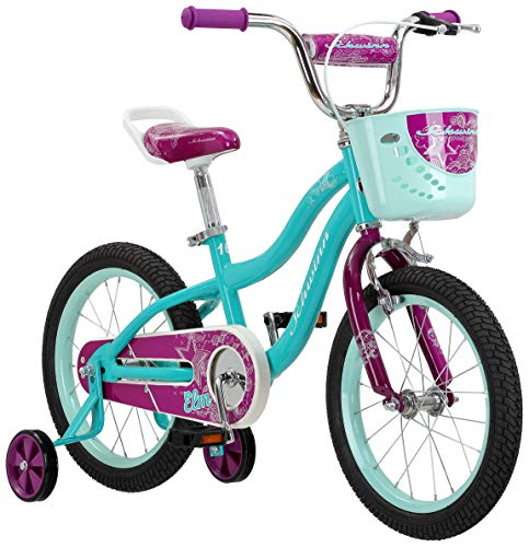 Schwinn Elm Girl's Bike, Featuring SmartStart Frame to Fit Your Child's Proportions, 12inches Wheels, Teal ()
