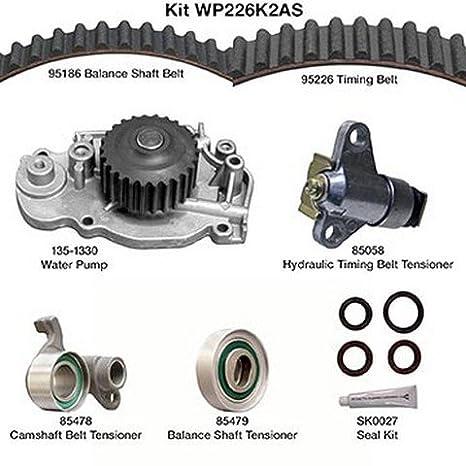 Dayco wp226 K2as correa de distribución Kit w/bomba de agua: Amazon.es: Coche y moto