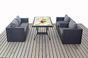 Petit salon de jardin en rotin Canapé moderne Set de table ...