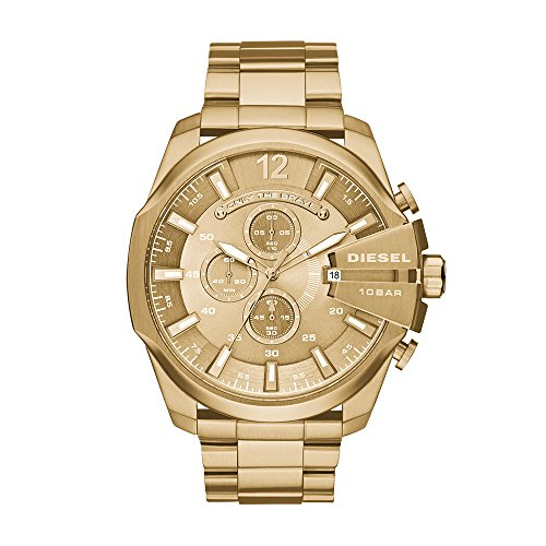 Mens Designer Watch (Diesel Men's DZ4360 Mega Chief Gold Watch)