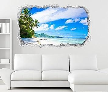 3d Wandtattoo Landschaft Malediven Strand Meer Wand Aufkleber