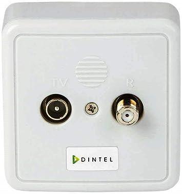 Dintel - Toma intermedia 10 dB 2 salidas TV-SAT   Toma de ...