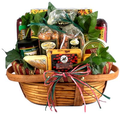 Gift Basket Village The Midwesterner Cheese and Sausage Gift Basket, Medium
