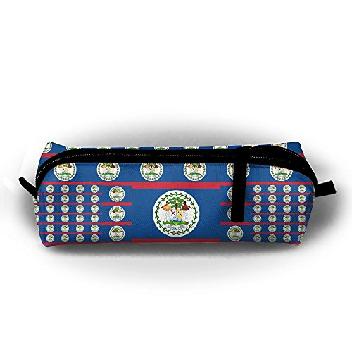 (Belize Flag Pencil Bag Holder Pen Case Coin Purse Pouch Stationery Pouch Bag With Zipper For Girls)