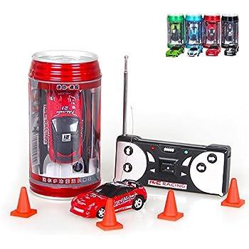 kids mini coke can children micro speed rc radio remote control micro racing car toy gift for fun1 pcs random color