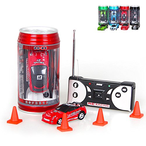 Kids Mini Coke Can Children Micro Speed RC Radio Remote Control Micro Racing Car Toy Gift For Fun(1 Pcs, Random Color)