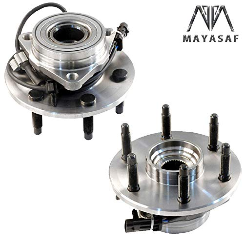 MAYASAF 515036x2 Front Wheel Hub and Bearing Assembly 6 Lugs w/ABS Fit 4WD/AWD Models for Chevrolet Silverado 1500 GMC Sierra 1500 Cadillac Escalade Chevrolet Tahoe 99-07 (2 PCS FBA)