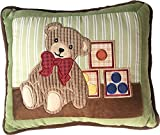 Teddy Bear Story Decorative Nursery Pillow