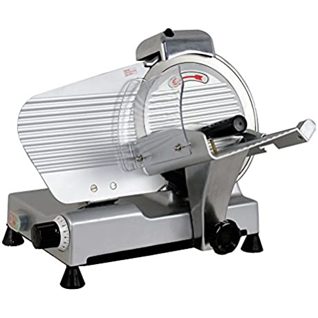 ZENY 10 Blade Commercial Meat Slicer 240W 530 RPM Electric Deli Cheese Food Slicer Veggies Cutter
