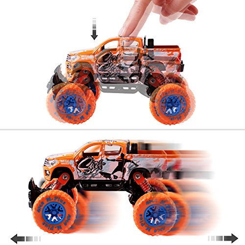 iPlay, iLearn Monster Truck Toys Set, 1:30 Large Pull Back Play Vehicles, Friction Powered, Big Wheels Cars Model, Learning Gift for Age 2, 3, 4, 5, 6, 7 Year Olds, Toddlers, Boys, Girls, Little Kids by iPlay, iLearn (Image #4)