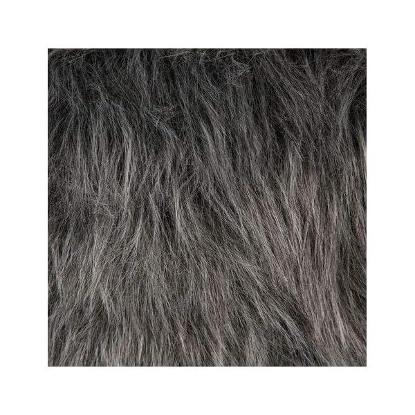 Tabouret Pouf Rond En Fourrure- Stable et Robuste – Coloris Gris