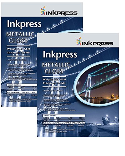 Supply Spot offers Inkpress Metallic Glossy Paper for Inkjet Printers 8.5x11 50 Sheets