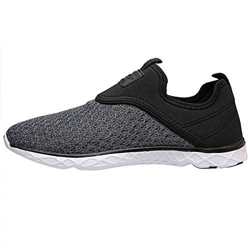 Water Mens Black Gray US Athletic Aleader Slip D Shoes M 9 on xYdwIwq