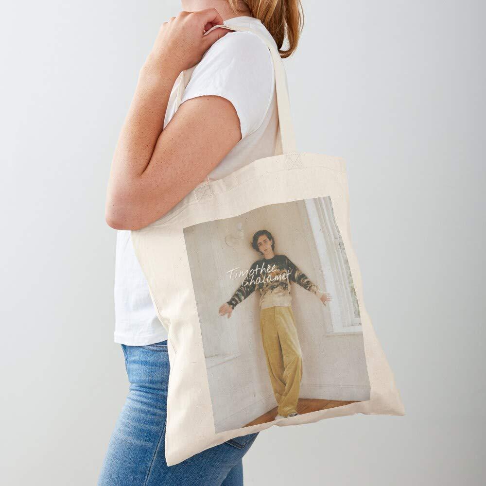 livres scolaires ordinateur portable Tote Name Chalamet Bag Timothee Cotton |100/% coton naturel parfait pour faire du shopping