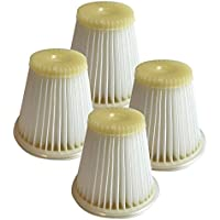 4 Replacement for Black & Decker HEPA Style Filter Fits Cyclonic Dustbuster, Compatible With Part # VF100, Washable & Reusable, By Think Crucial