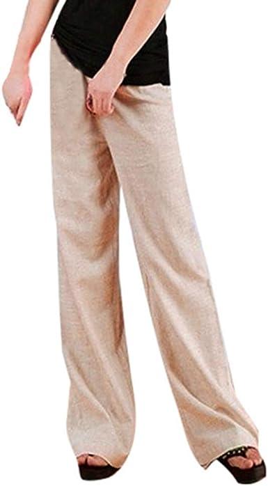 Liquidacion Venta Mujeres Otono Invierno Mujeres Cintura Alta Pantalones Rectos Especial Estilo Largos Color Solido Tallas Grandes Pantalones Anchos Amazon Es Ropa Y Accesorios