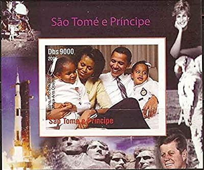 St Thomas - 2005 Obama Family Deluxe Imperf Stamp Sheetlet 19A-108