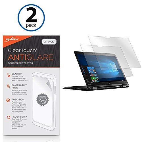 Lenovo Thinkpad X1 Yoga Screen Protector, BoxWave [ClearTouch Anti-Glare (2-Pack)] Anti-Fingerprint Matte Film Skin for Lenovo Thinkpad X1 Yoga