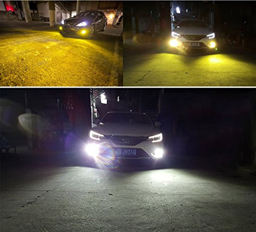 CAR ROVER LED Fog Lights Lamps Replacement - Dual Color In 1 (6000K/3000K) - Pack of 2