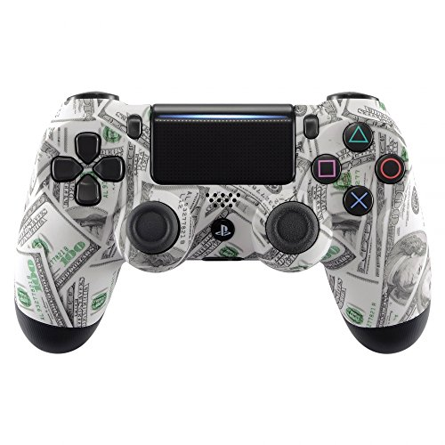eXtremeRate 100 Cash Money Dollar Pattern Soft Touch Grip Front Housing Shell Faceplate for Playstation 4 PS4 Slim PS4 Pro Controller (JDM-040) For Sale