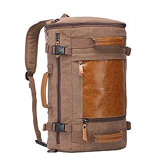 7c68ff078 WITZMAN Men Vintage Canvas Rucksack Travel Duffel Backpack Retro Hiking Bag  2033 (19 inch Brown) (B00OP3W1UA)   Amazon price tracker / tracking, ...