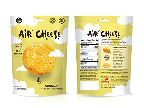Air Cheese All-Natural High Protein 100% Crunchy Cheese Snack Bites by Air Cheese