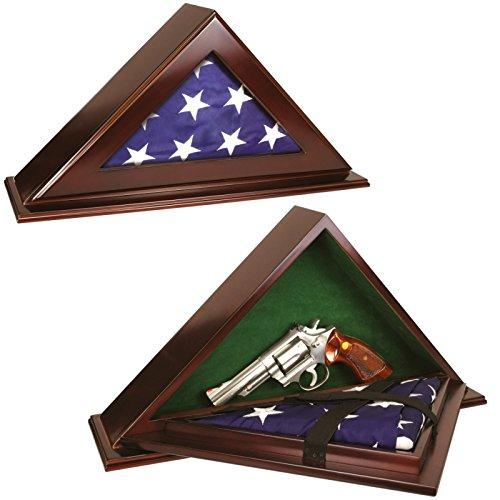 Peace Keeper Triangular Wooden Patriot Flag Case Gun Concealment Diversion Safe