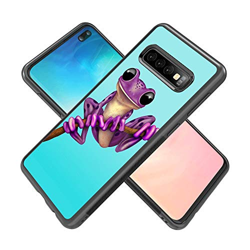 Samsung Galaxy S10 Plus case Cartoon Frog Full Body Case Cover Screen Protector Heavy Duty Protection case Shockproof case for Samsung Galaxy S10 Plus