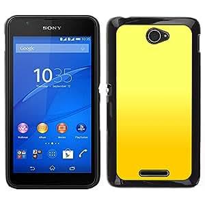 EJOY---Cubierta de la caja de protección para la piel dura ** Sony Xperia E4 ** --Fondo amarillo