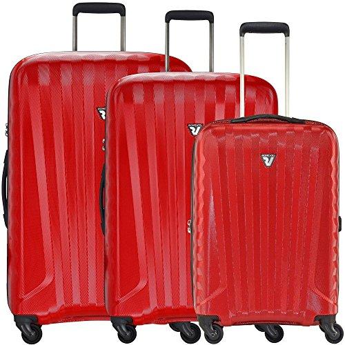 Roncato UNO ZIP valigia a 4 ruote (set di 3) nero rubino