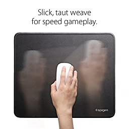 """Spigen A100 Gaming Mouse Pad / Mat with Smooth Surface and Stitched Edges 12.6"""" x 10.6"""" x 0.1"""" Medium Size – Speed Edition"""