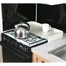 Camco 43557 Universal Fit RV Stove Top Cover (White) by Camco