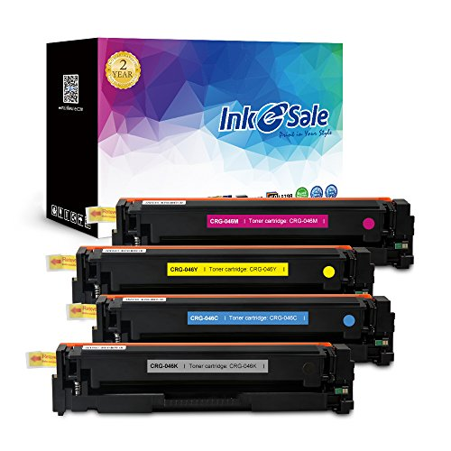 INK E-SALE Replacement for Canon CRG-046 KCMY Toner Cartridge for use with Canon Color LaserJet MF733Cdw ,MF731Cdw, MF735Cdw Printer Series 4 Pack