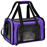 Henkelion Cat Carriers Dog Carrier Pet Carrier for Small Medium Cats Dogs Puppies up to 15 Lbs - Airline Approved Small Dog Carrier Soft Sided - Collapsible Waterproof Travel Puppy Carrier - Purple