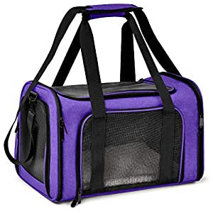 Henkelion Cat Carriers Dog Carrier Pet Carrier for Small Medium Cats Dogs Puppies of 15 Lbs, TSA Airline Approved Small…